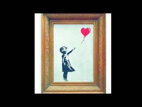 Banksy Painting 'self-destructs' In Artist's Prank At Auction