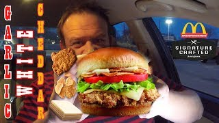 McDonald's® ☆GARLIC WHITE CHEDDAR☆ Crispy Chicken Food Review!!!