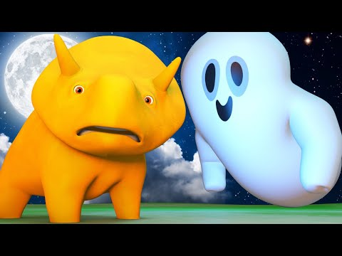 Educational cartoon - HALLOWEEN - Halloween Ghosts - Learn with Dino | Learning Videos for Children