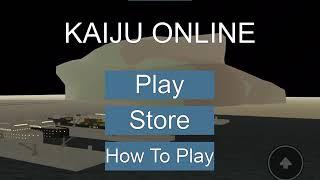 Let's play roblox:Kaiju online: godzilla 2014 update! (Read description)