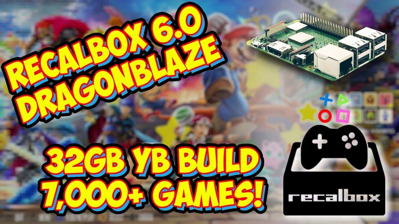 Recalbox 6 0 DragonBlaze 32gb Raspberry Pi Build! 7,000+ Games Overview!