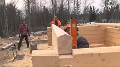 Hirsitalon rakentaminen: Pitkänurkkainen pelkkahirsi