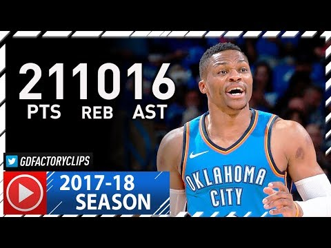 Russell Westbrook Triple-Double Highlights vs Knicks (2017.10.19) - 21 Pts, 10 Reb, 16 Ast!