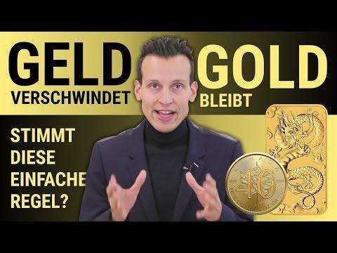 GELD VERSCHWINDET UND GOLD BLEIBT