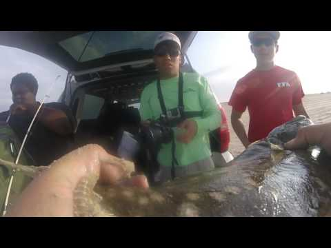 Flounder Fishing San Luis Pass Galveston Tx before a storm