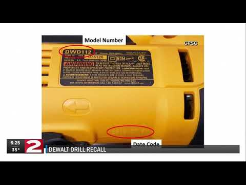 Steve - RECALL: DeWALT Recalls Thousands of Drills