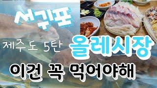제주도맛집 5탄/서귀포/올레시장/해산물 /회 /제주도라…