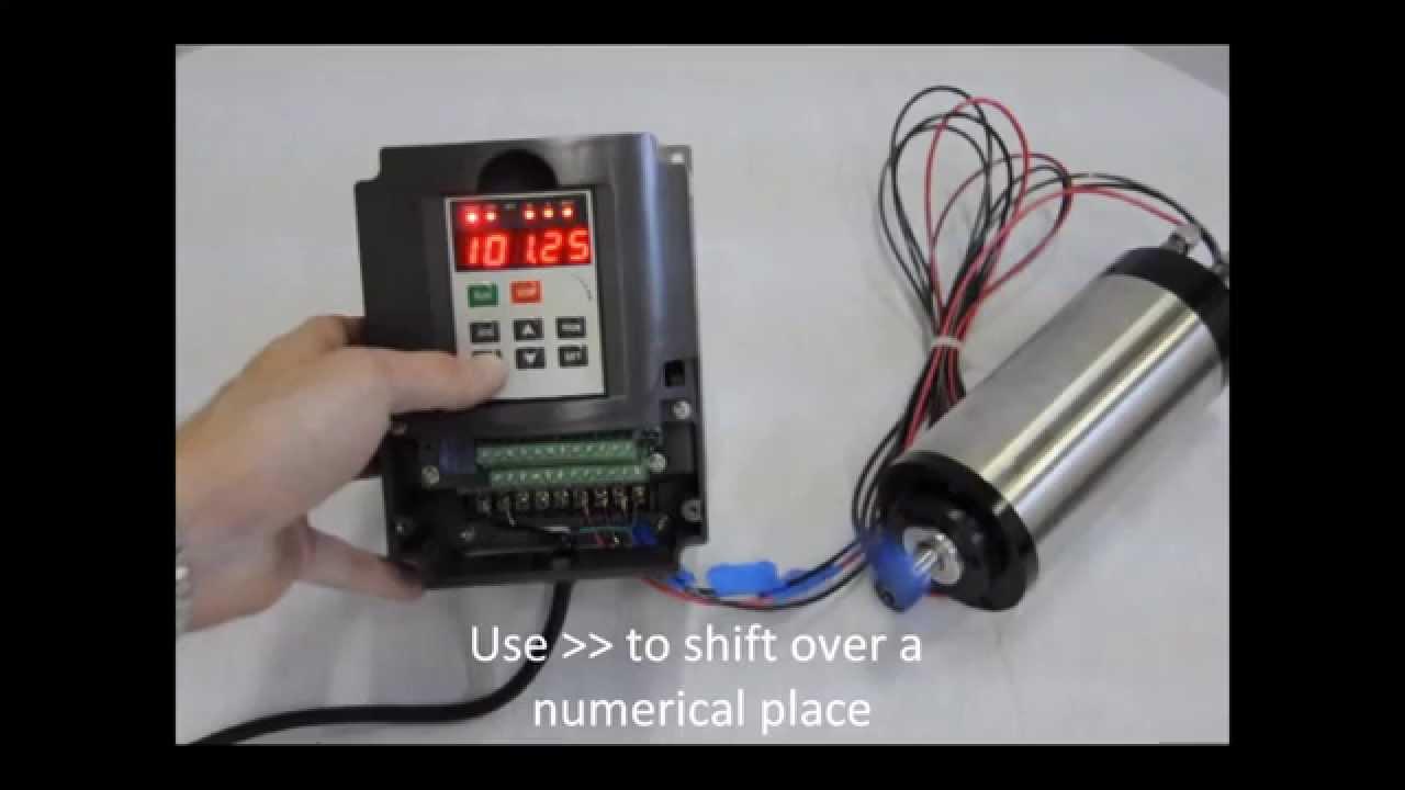 110v Motor Wiring Diagram 2 2kw Spindle Amp Vfd Operating Youtube