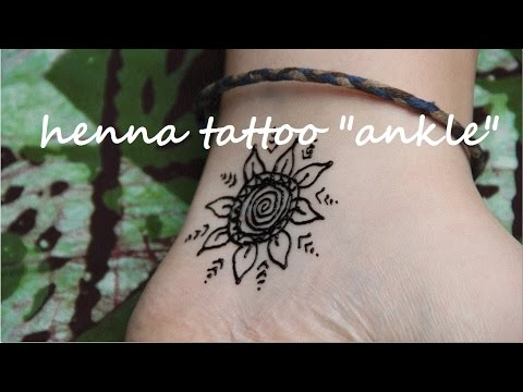 diy henna tattoo ankle   youtube