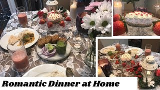 Romantic Dinner at Home|Special Indian Dinner Recipes| Husband's Birthday Plan #3