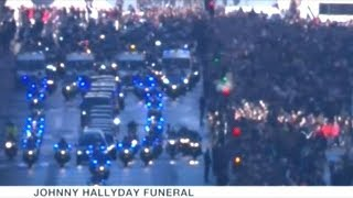 Massive Turnout For French Rock Legend Johnny Hallyday's Funeral