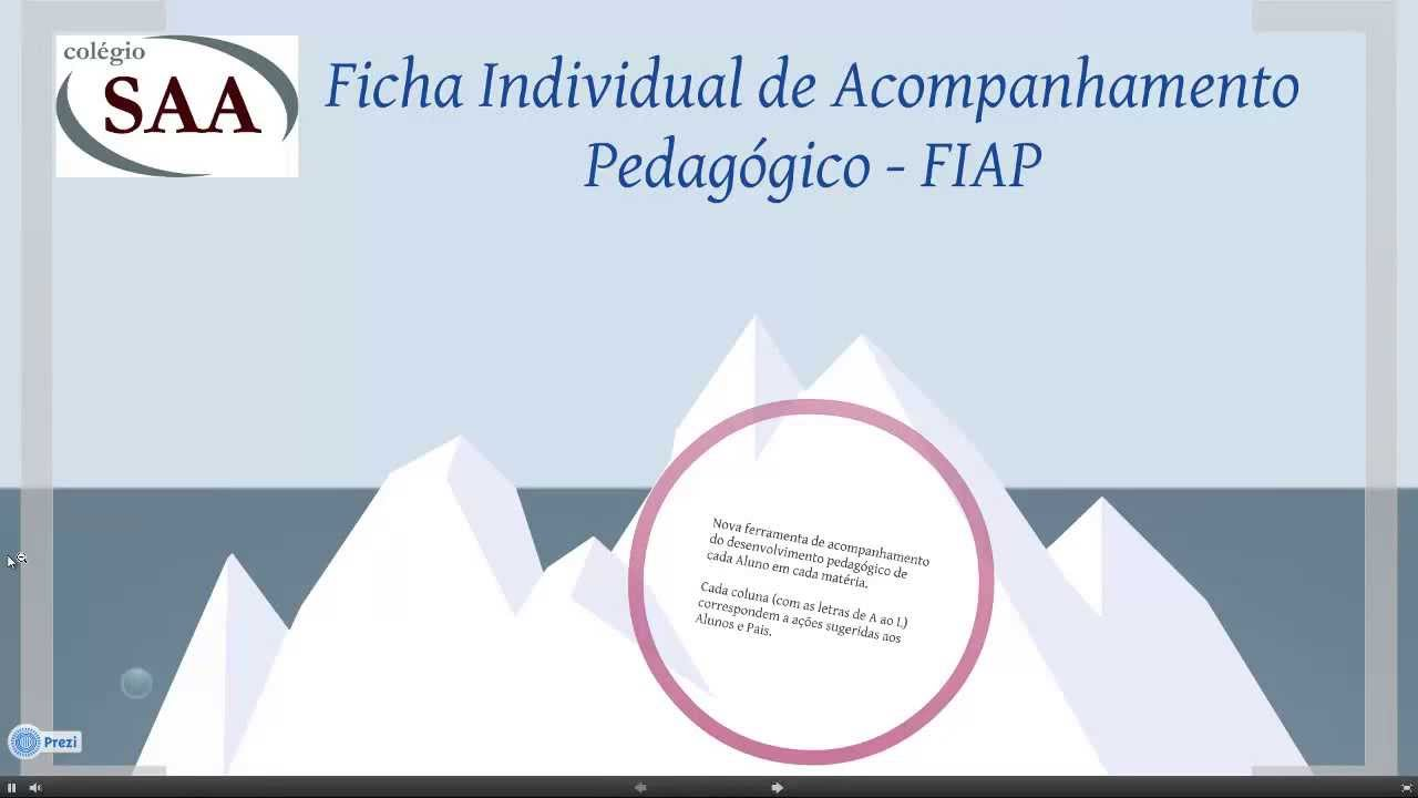 Well-known FIAP - Ficha Individual de Acompanhamento Pedagógico - YouTube LI22