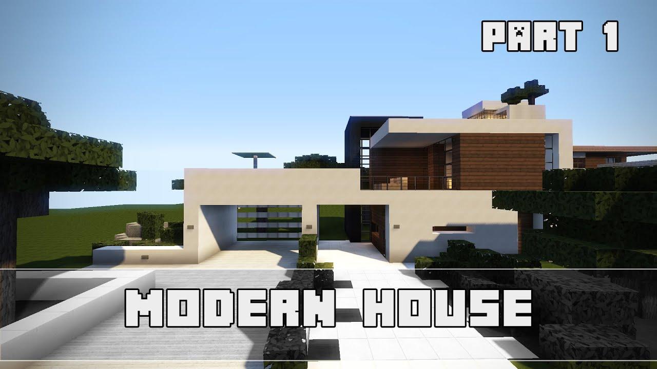 Elegant Minecraft Modernes Haus Bauen Schema