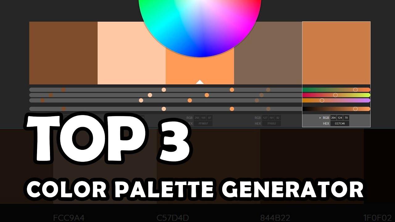 Top 3 Websites Color Palette Generator Color Scheme Youtube
