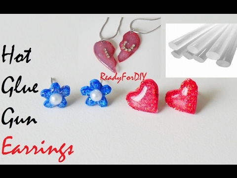 DIY Hot Glue Gun Earrings & Lockets - Valentine's Day Gifts
