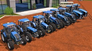 ALL NEW HOLLAND T SERIES TRACTORS  - FARM 2017🚜🚜🚜