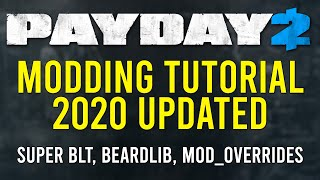 PAYDAY 2 - Modding tutorial 2020 - How to Install Super BLT and mod_overrides mods - Beardlib