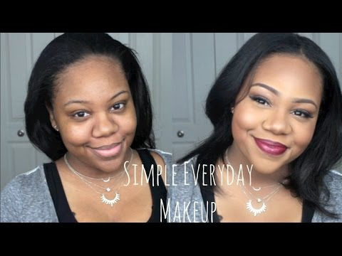 simple everyday makeup routine for brown/ dark skin