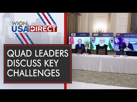 Modi, Biden , Morrison , Suga vow free Indo-Pacific   WION USA Direct   WION News   WION