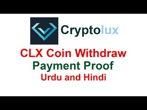 How to Withdraw CLX Token from Cryptolux - Live Cash Out - Urdu/Hindi