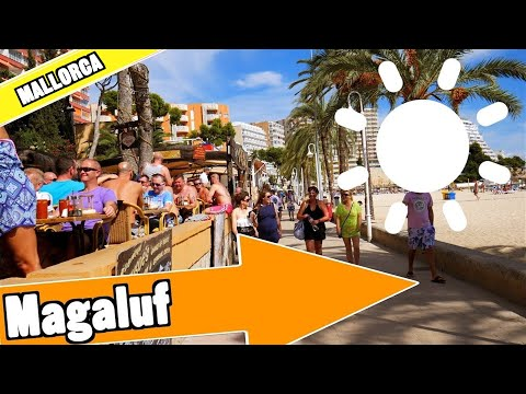 Magaluf Mallorca Spain:  Tour of beach and resort