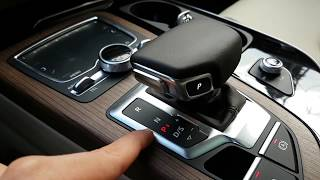 Audi 2018 Q7 (SQ7), A7, Q5 Gear Selector, tiptronic- detail explanation