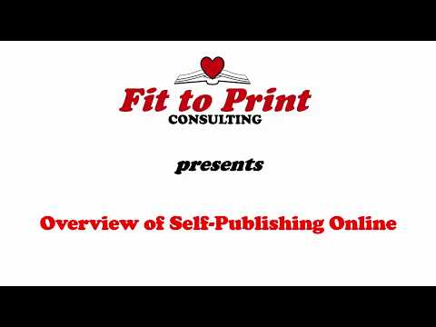Overview of Self-Publishing Online