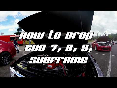 EVO 9 SE BUILD EPISODE: 4 How to drop an Evo subframe (Evo 7,8,9)
