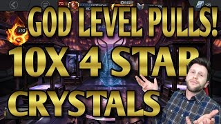 GOD LEVEL PULLS! - 10X 4 STAR CRYSTALS [MARVEL CONTEST OF CHAMPIONS]