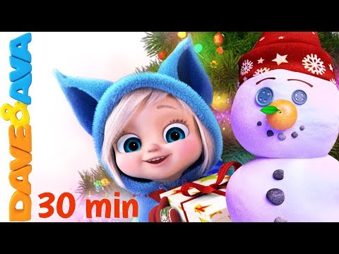 🎄On Christmas Day | Christmas Songs for Kids: Jingle Bells, Christmas Time, SANTA from Dave and Ava🎉