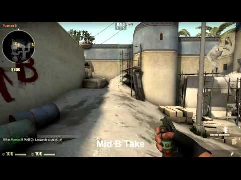 CS:GO | de_dust2 smokes and flashes ( Pop flashes, Site takes, retakes, tactics )