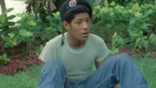 Laurence Fishburne (14) on the set of Apocalypse Now