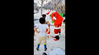 Mean Kid Hits The Grinch In The Nuts