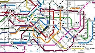 世界の主要都市の地下には、地下鉄の非常に複雑な10の地図が!!その栄えある1位は…あの都市