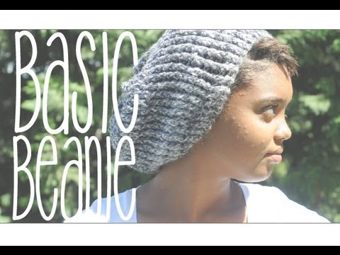 Basic Slouchy Beanie - YouTube 9340c5eb7eb