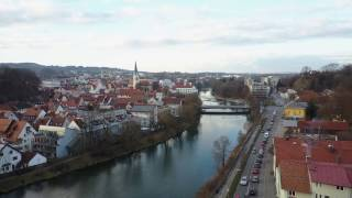 Kempten (Allgäu) - Sicht über Fluss Iller