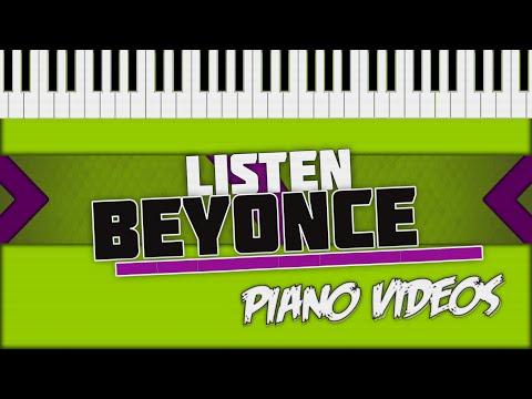 Listen - Beyoncé Piano Tutorial - Piano videos ツ