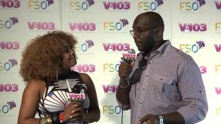 Roger Bobb And Ramona DeBreaux At V-103 FSO 2013
