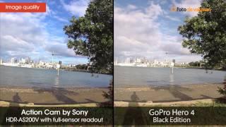 Sony HDR-AS200V VS GoPro Hero 4 Black Edition