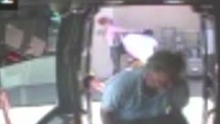 Video: Albuquerque bus driver helps man attacked at bus stop
