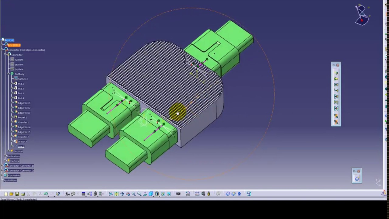 catia v5 electrical automatic assembly demo