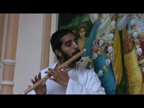 Flute by  H.G. Krishnaprem Prabhu 25.08.2012 in Vrindavan - India