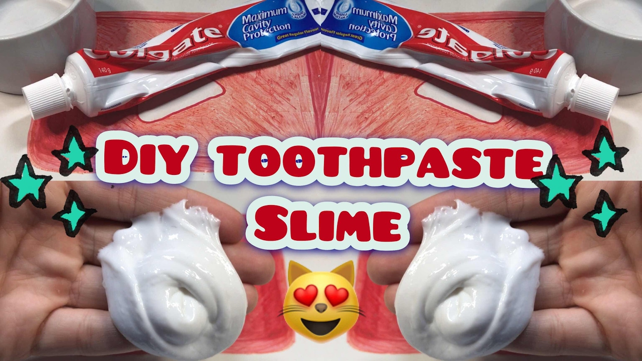 How To Make Slime Colgate Toothpaste And Glue, Without Borax , Starch And  Detergent Experiment!