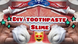 how to make slime colgate toothpaste and glue without borax without starch and without detergent