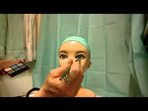 ASMR doll face brushing/makeup. no talking
