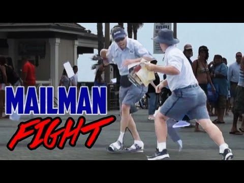 Drunk Mailman Fight Prank