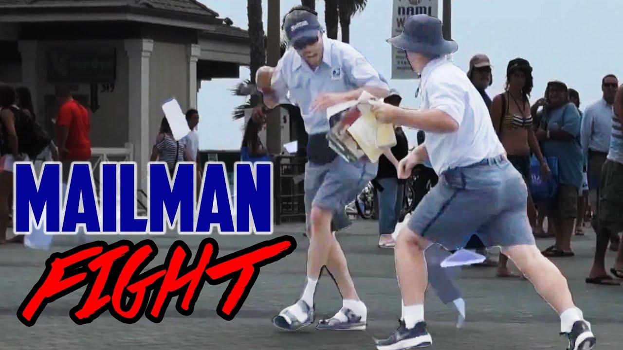 Drunk Mailman Fight Prank