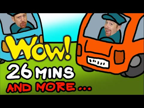 The Wheels On The Bus + More   Children´s Music Collection   26 Minutes Compilation Steve and Maggie