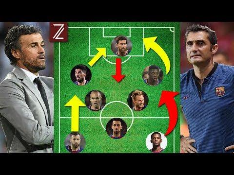 BARCELONA: 5 Grandes Diferencias Tácticas de Juego de Valverde y Luis Enrique