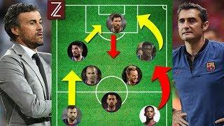 5 Grandes Diferencias Tácticas del Barcelona de Valverde y Luis Enrique